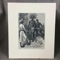 1890 Antico Stampa Africano Ngoni Persone Tribe Watuta Warrior Southern Africa