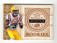 ODELL BECKHAM Jr NFL 2013 UPPER DECK QUANTUM '14 DRAFT PICKS #/175 (LSU,GIANTS)