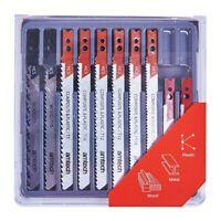 14pc Assorted Jigsaw Blade Set Métal Bois Plastique Jig Saw Blades avec étui UK