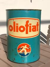 Oliofiat Bidon huile 1960 ancien fiat Oil oel dose oldose tin can pin up tole