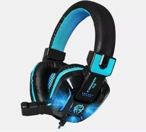Stereo Surround Deep Bass LED Light Gaming Headphone Headset Over-Ear Earphone
