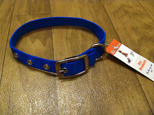 "NEW w/ Tag Valhoma 14"" Blue Dog Collar with Grommet Holes 3/4"" Wide"