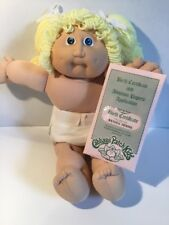 Cabbage Patch Kids Doll Vintage Blonde Hair Blue Eyes Girl Sealed Papers