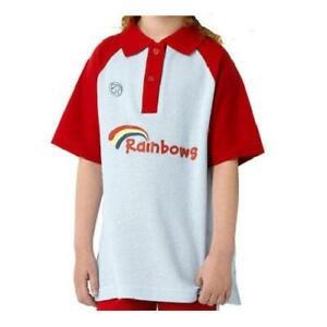 Rainbow Polo Shirt Official Uniform Girl Guiding Guides All Sizes
