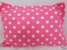 Child Toddler Cot Pillowcase Pink Polka Dots - 100 Cotton
