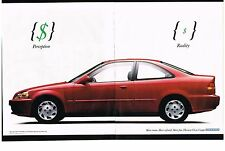 PUBLICITE ADVERTISING  1996  HONDA   CIVIC COUPE  (2 pages)