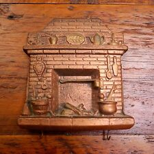Vtg Copper Colored FARMHOUSE HEARTH Fireplace Chalkware Wall Hanging Key Holder