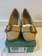 Clarks Camel Leather Womens Shoes UK 5.5 D / EUR 39