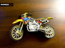 """Yellow Dirt Bike Supercross Motorcycle Model Kids TOY DC 5"""" inches Pastrana 199"""