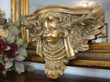 Wandkonsole Engel Gold Konsole Antik Barock Wandregal Ablage Jugendstil Edel NEU