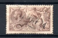 GB KGV 1918 2s 6d pale brown Seahorse SG415A lightly used WS20101