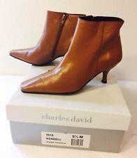 Charles David 'Kendell' Size 5.5 M Kitten Heel Booties Boots In Warm Honey Wheat