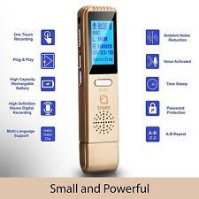 Troex Grabadora Digital De Voz-HD grabadores de audio estéreo mini USB-PC o Mac