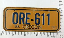 VINTAGE RARE 1979 OREGON POST CEREAL MINI MINIATURE BICYCLE LICENSE PLATE