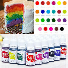 24Colors 10ml Cake Edible Pigment Food Coloring for Chocolate Fondant DIY Decor