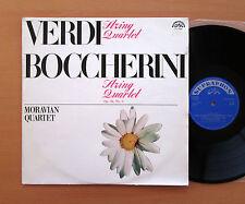 Verdi Boccherini String Quartets Moravian Quartet Supraphon 0 11 0573 NM/EX
