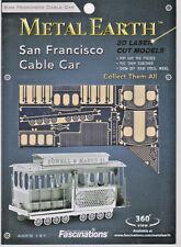 Metal Earth SAN FRANCISCO CABLE CAR Laser Cut 3D Model Kit- NEW -FREE SHIPPING