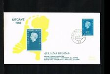 [A214_076] 1969 - Netherlands FDC W15 (2) - issued Philato - Different color whi