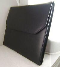 Pochette Noir Cuir Véritable Luxe 22 Montres Leather Pouch Collector 22 Watches