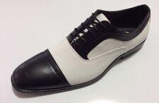 Men's Dress Shoes ANTONIO CERRELLI,BLACK/WHITE OXFORD STYLE # 6694 NEW