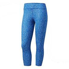adidas Women's Training Designed-2-Move 3/4 Tights Blue/Micro Camo- Print BP7810