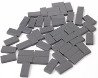 LEGO - 50 x Fliese 1x2 dunkelgrau  Kachel / Dark Bluish Gray Tile 3069b NEUWARE
