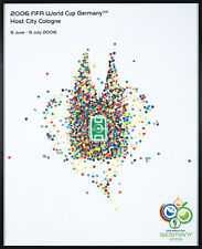 Original Vintage Poster 2006 World Cup Cologne Germany Soccer Football