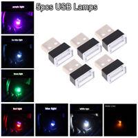 5pcs Mini USB LED Car Interior Light Neon Atmosphere Ambient Lamp Accessories