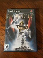 BIONICLE - THE GAME (Sony PlayStation 2, 2003) PS2 EA LEGO - COMPLETE FREE SHIP