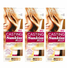 3 X L'oreal Casting Sunkiss Jelly 02 for Dark Blonde to Light Blonds Hair 100ml
