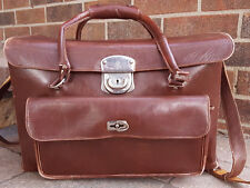 Vtg Camera Case-Sudhaus-Brown Leather-Clasp-No Key-Strap-Film Photography Old...