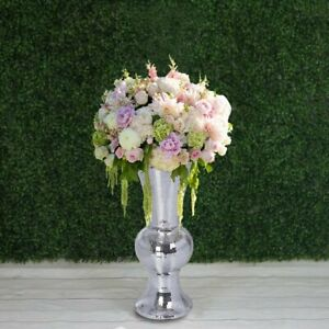 """24"""" tall Silver Mirror Mosaic Wedding Vases Centerpieces Party Decorations SALE"""