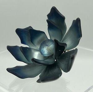 Brilliant Alexis Bittar Blue Lucite Flower Brooch Large /b