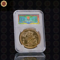 WR Business Gift Elizabeth II Gold Foil Commemorative Coin with Security Display