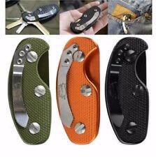Clip Key Aluminium Keyring Organiser Pocket Keychain Tool Bunch Secure Belt