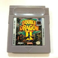Double Dragon II Nintendo Original GameBoy Game - Tested - Working - Authentic!