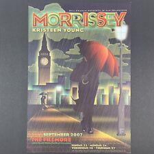 ORIGINAL Morrissey Concert Poster The Fillmore 2007, F892 San Francisco, BGF-892