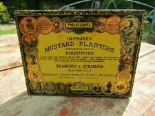 Antique Art Deco Era American Mustard Plasters Tin & Contents