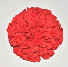 "3.5"" Bright Red Marigold Silk Flower Hair Clip Pinup Wedding Prom"