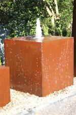 Garten Metallbrunnen mit Eule und Pumpe Wasserspiel Vogeltränke Zimmerbrunnen