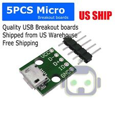 Micro USB Breakout Signals Board 5P - Pack of 5
