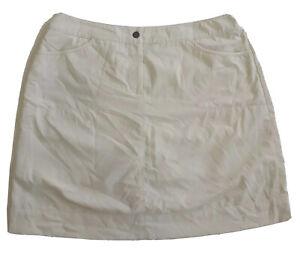 Cutter & Buck Golf Skirt Skort A-Line Light Yellow Size US 10 - AUS L/14 Women's