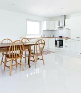 CUT-SAMPLE £18.89/m2 Super Ice White High Gloss 60X60 Porcelain Tiles Wall Floor