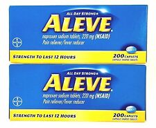 ALEVE 2 X 200 (400) CAPLETS NAPROXEN SODIUM 220 mg PAIN RELIEVER EXP 12/18 +