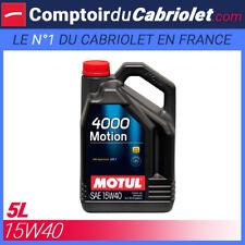 Huile Motul 4000 Motion 15W40 - 5L pour moteur 4 Temps
