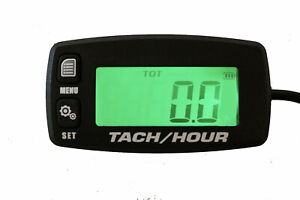 Backlit Digital Tach Tachometer Hour Meter ATV Boat Bike UTV