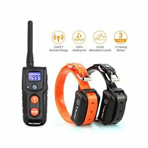 Dog Training Collar with Remote - Advanced Rechargeable Shock Collar for Dogs...