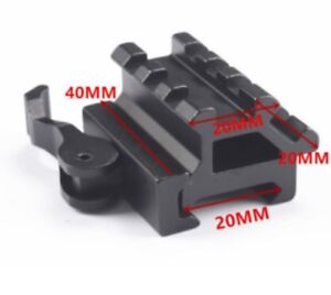 Quick Release 45 Degree Offset Angled Weaver/Picatinny Mount with Raiser