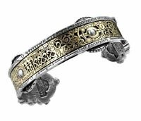 Alchemy Gothic Men's Steampunk Bracelet Spectrostatic Nocturnium Bangle Pewter
