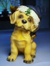 Yellow Lab Puppy Dog Christmas Figurine Resin - Great Condition & Oh, So Cute!!!